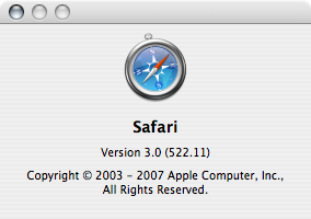 Safari 3.0 Beta