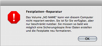 Festplatten-Reparatur