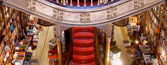 Lello bookstore in Porto, Portugal (Photography by delviking  Flickr.com)