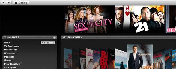Leihen und Kaufen im iTunes Movie Store