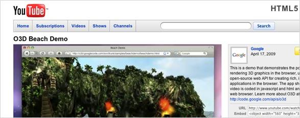 HTML 5 mit Safari 4