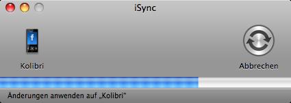 iSync mit Feisar-Plugin im Einsatz