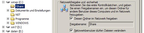 Dateifreigabe in Windows erstellen