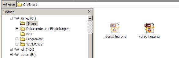 Verschwinden auf der Windows-Seite