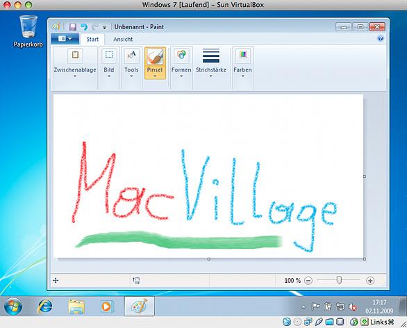 Windows 7 in VirtualBox
