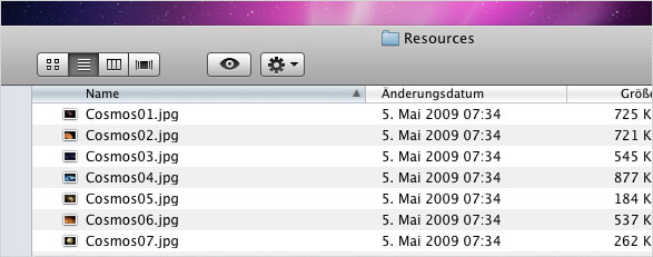 Mac OS X – Screensaver im Eigenbau