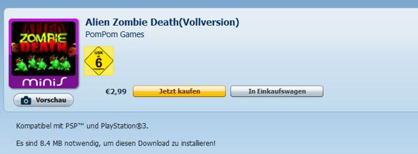 PSN: Alien Zombie Death