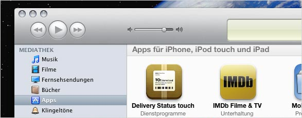iPad-Start im iTunes Store