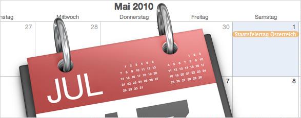 Kalenderwochen & Feiertage in iCal
