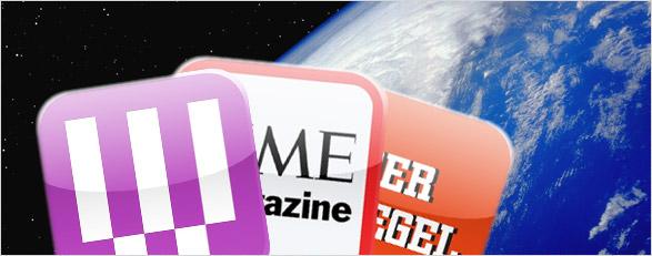 Magazine auf dem iPad