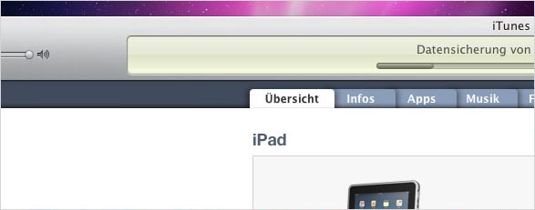 iTunes iPad-Backup