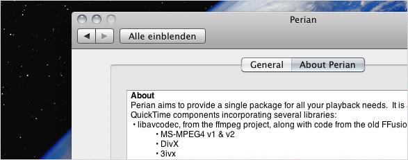 Standardwerkzeuge – Perian, Flip4Mac, VLC