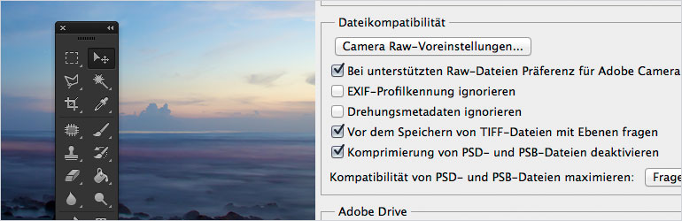 PSD-Komprimierung – Schneller speichern mit Photoshop CS6