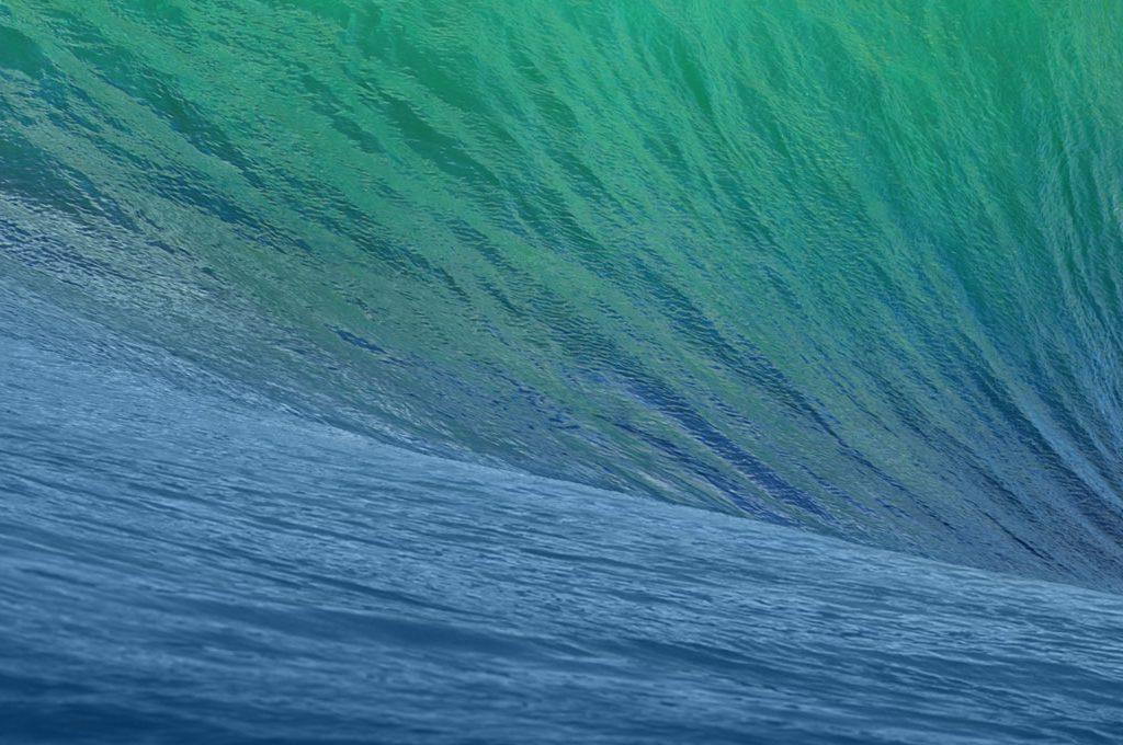 Mac OS X Mavericks Wallpaper Cut