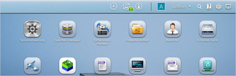 Qnap Admin GUI