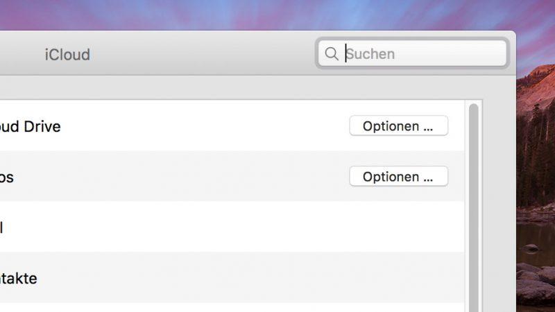 iCloud Drive in den Systemeinstellungen unter Mac OS X