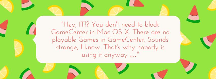 Game Center – Nichts zum spielen