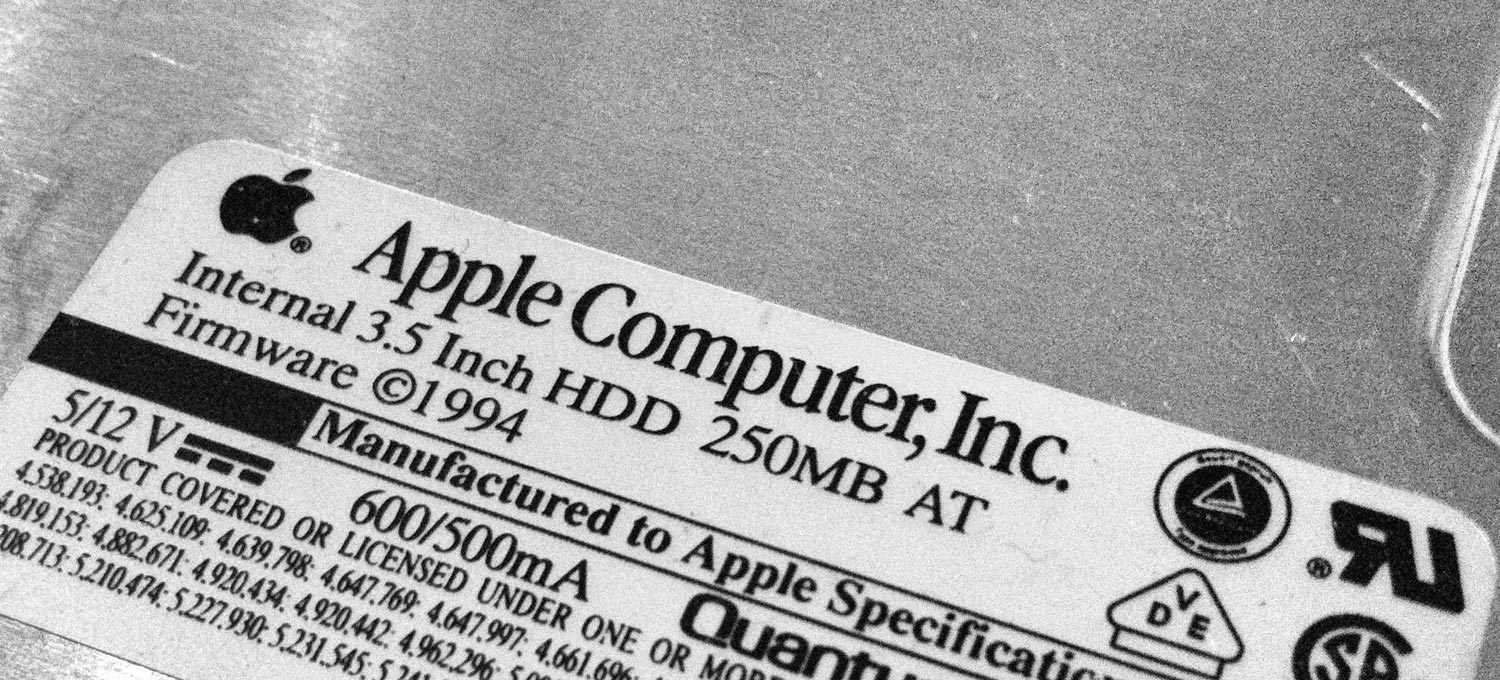 Apple Internal Quantum 3,5 HDD with 250MB from 1994