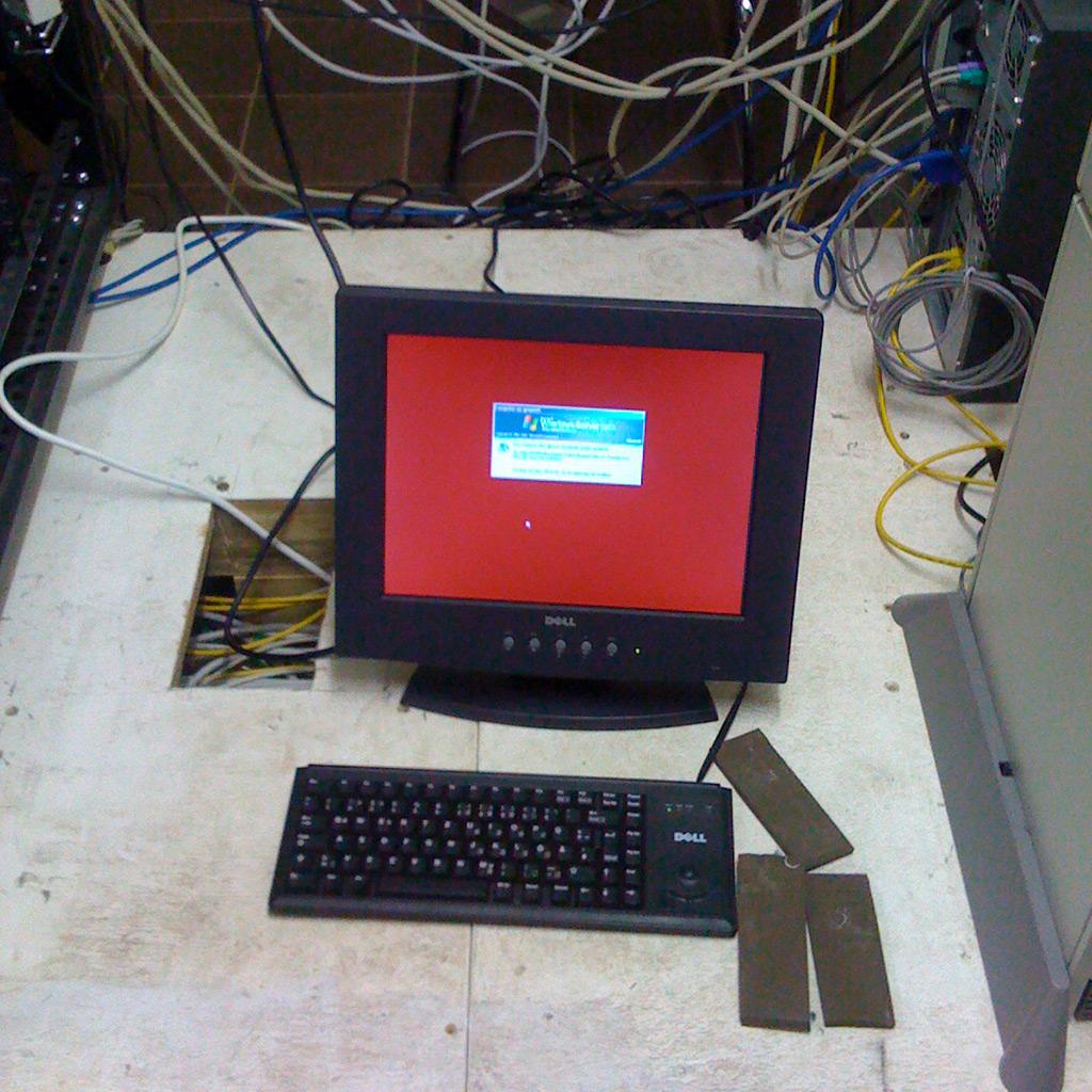 Serverraum mit modernem Windows-Terminal