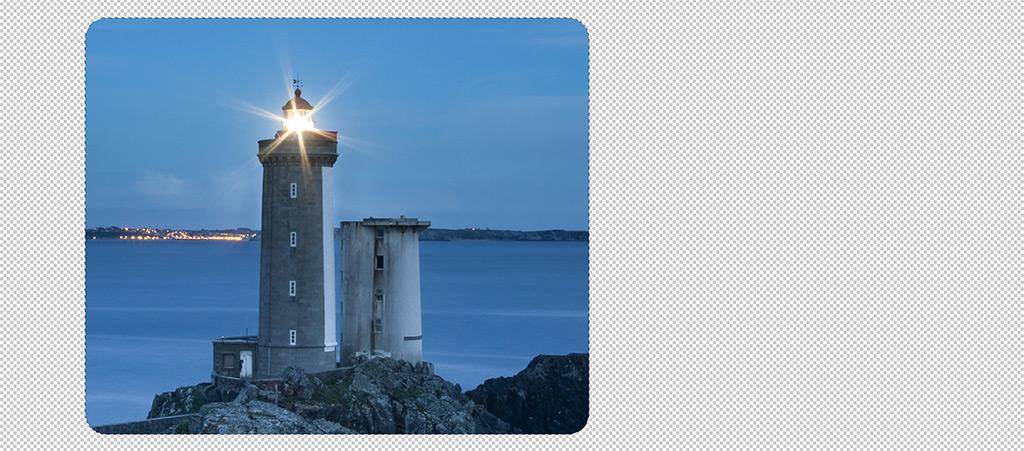 Auswahlkante mit abgerundeten Ecken in Photoshop CC