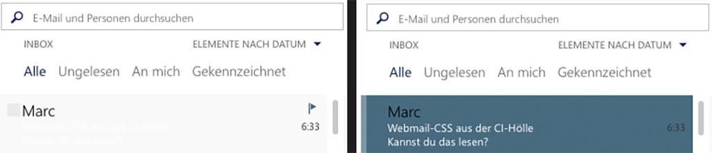 Admin wählt weiße Schrift auf 5% grauem Hintergrund und bekommt deswegen die Outlook Exchange Usability Medaille verliehen