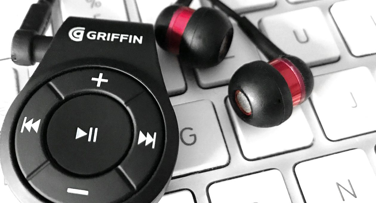 Griffin iTrip Clip auf Tastatur mit Kopfhörern