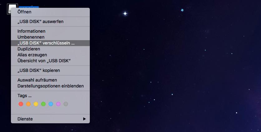 macOS: Externe Festplatte verschlüsseln