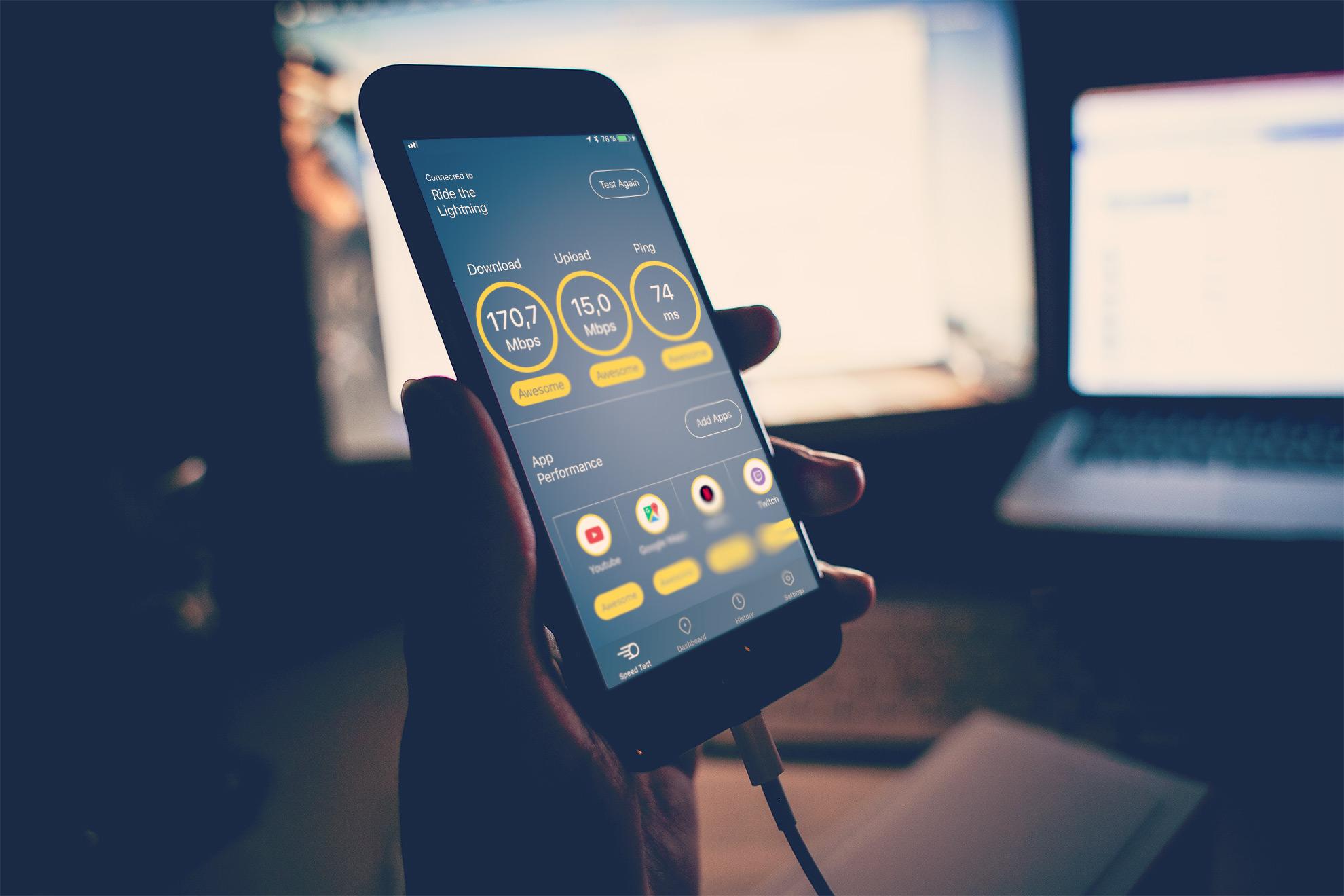 Meteor Speedtest für iOS