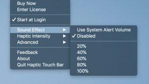 Finder-Menü der Haptic Touch Bar